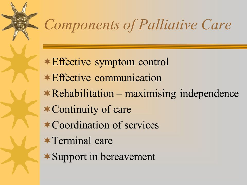 Components of Palliative Care