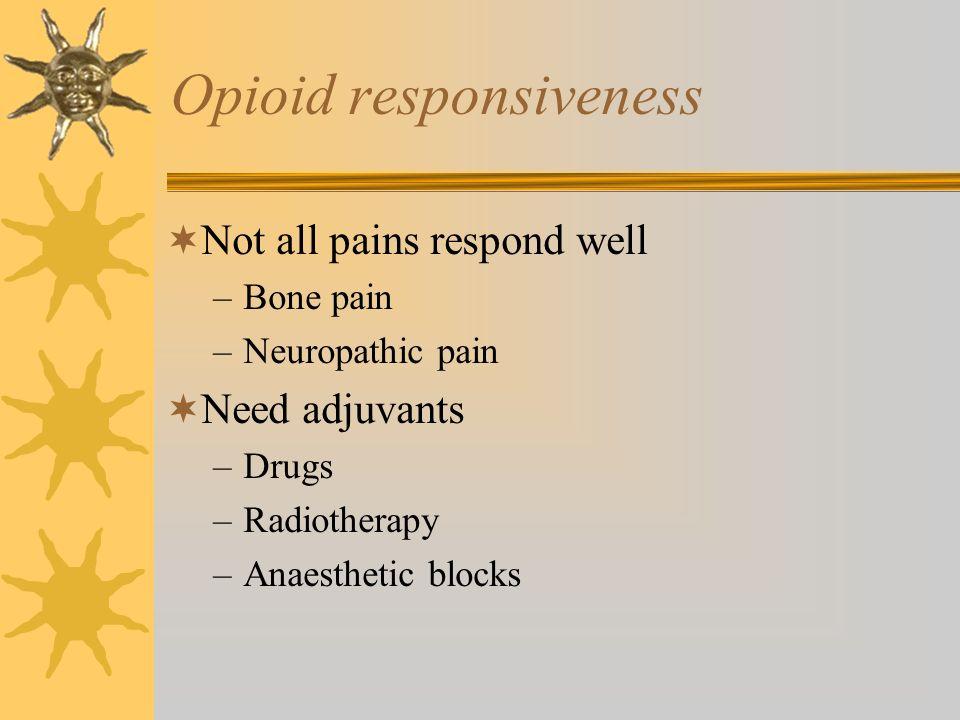 Opioid responsiveness