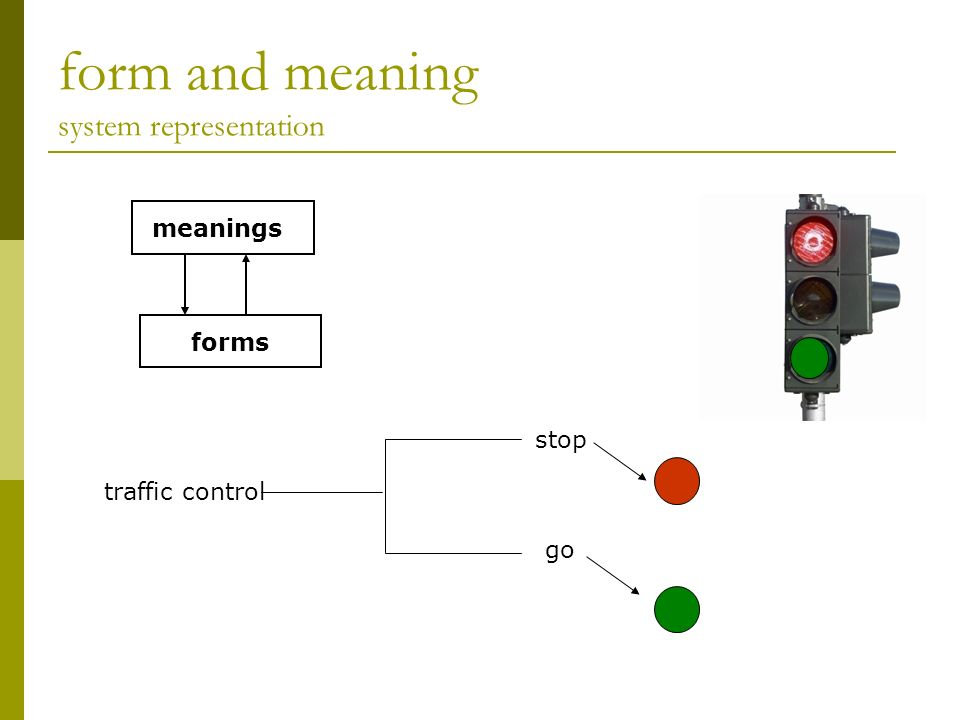 form and meaning system representation