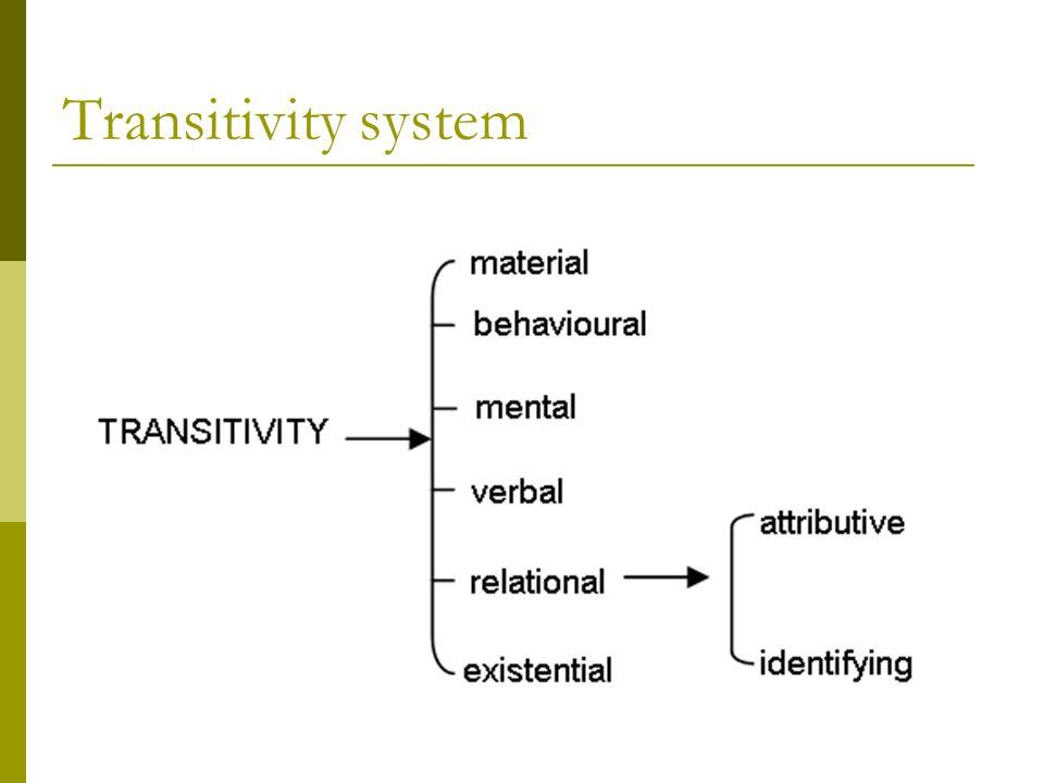 Transitivity system