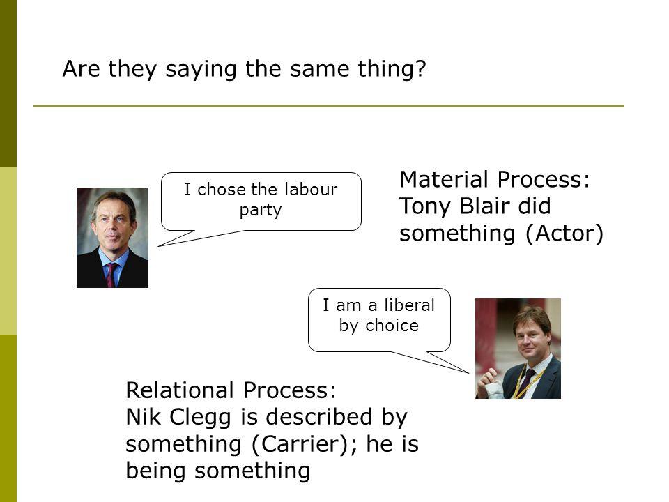 I chose the labour party