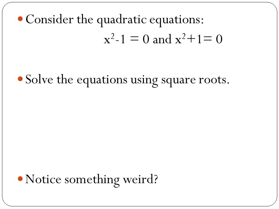 Consider the quadratic equations: