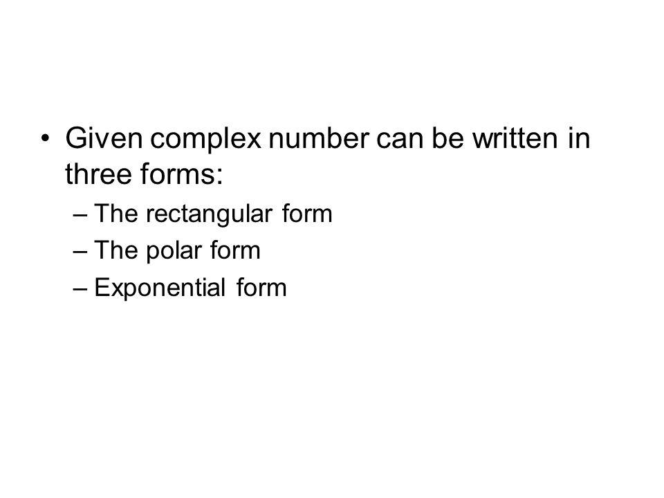 Appendix A Complex Numbers - ppt download