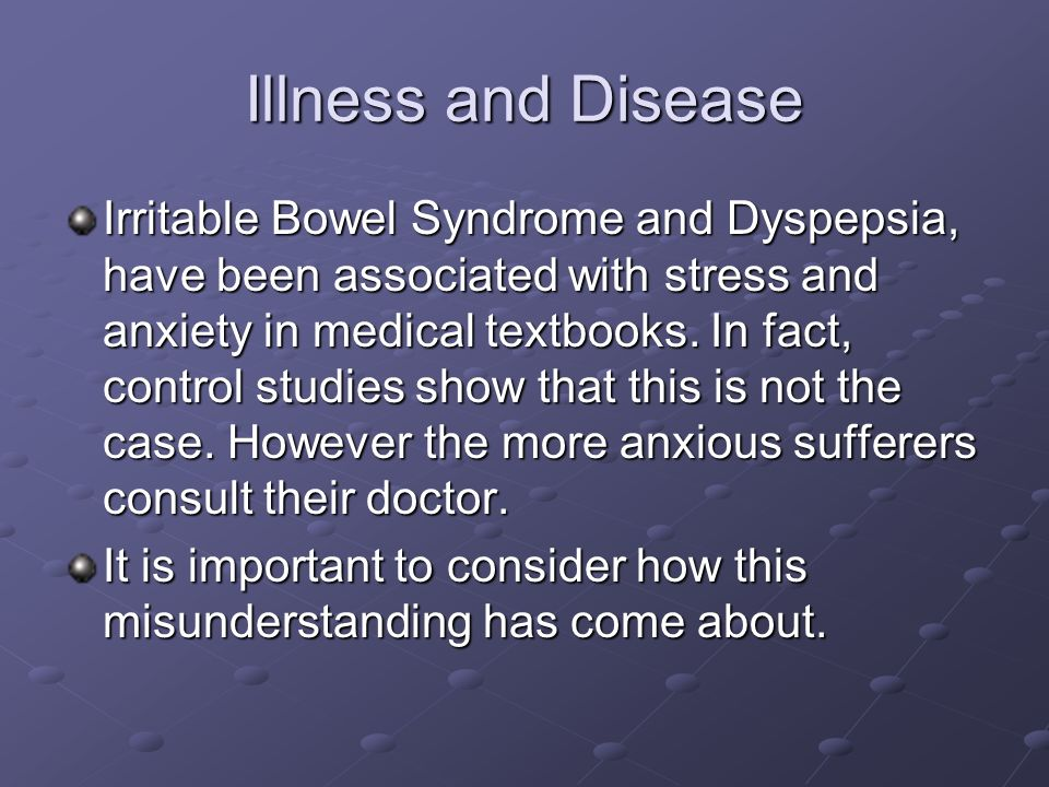 Illness and Disease