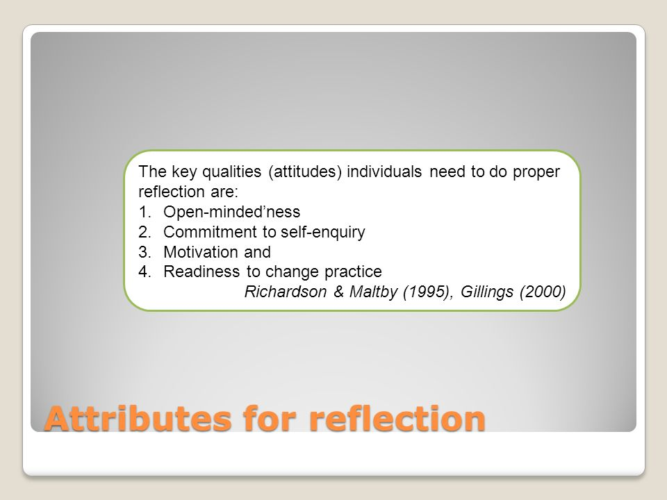 Attributes for reflection