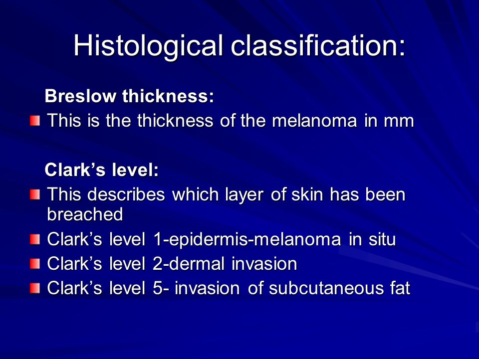Histological classification: