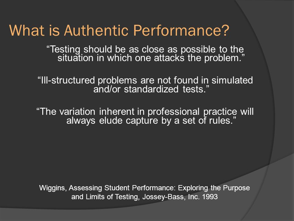 What is Authentic Performance