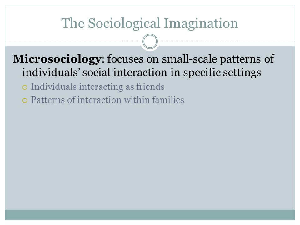 the sociological imagination the effect of The social consequences of energy generation and development, energy  transmission, and  popularized the idea of the sociological imagination it is a  term.
