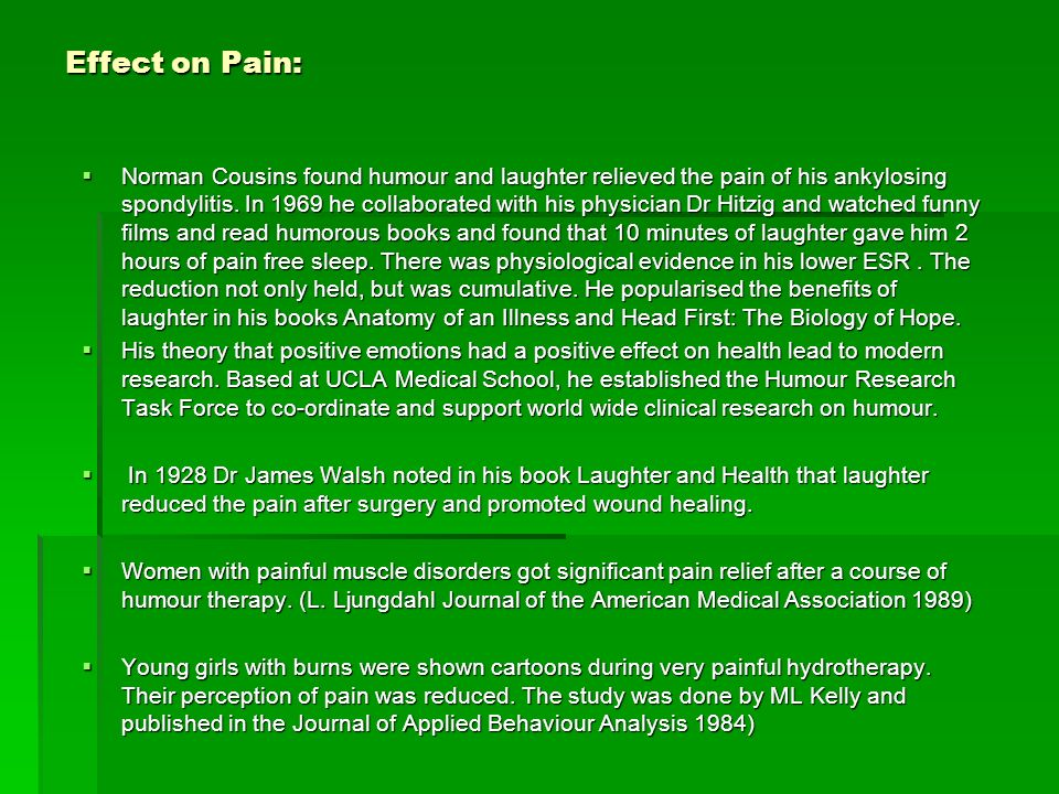 Effect on Pain:
