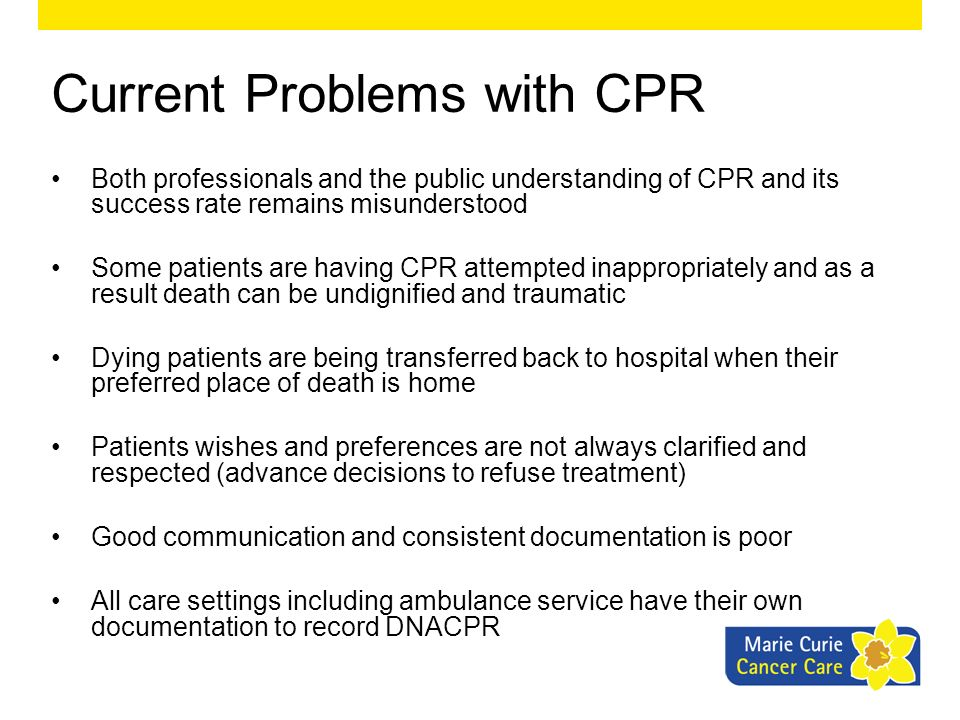 Current Problems with CPR