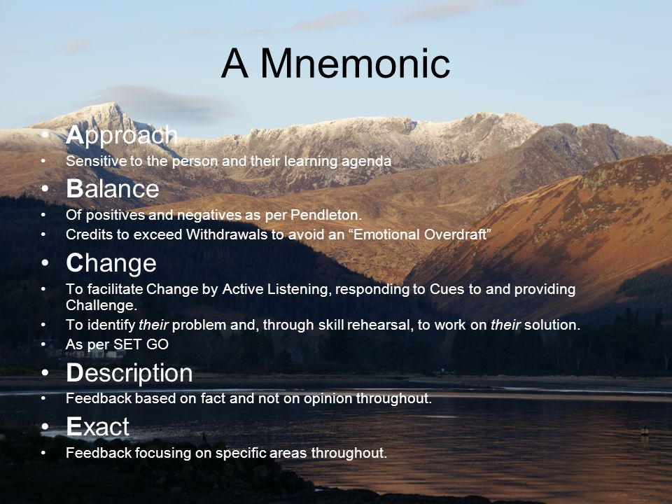 A Mnemonic Approach Balance Change Description Exact