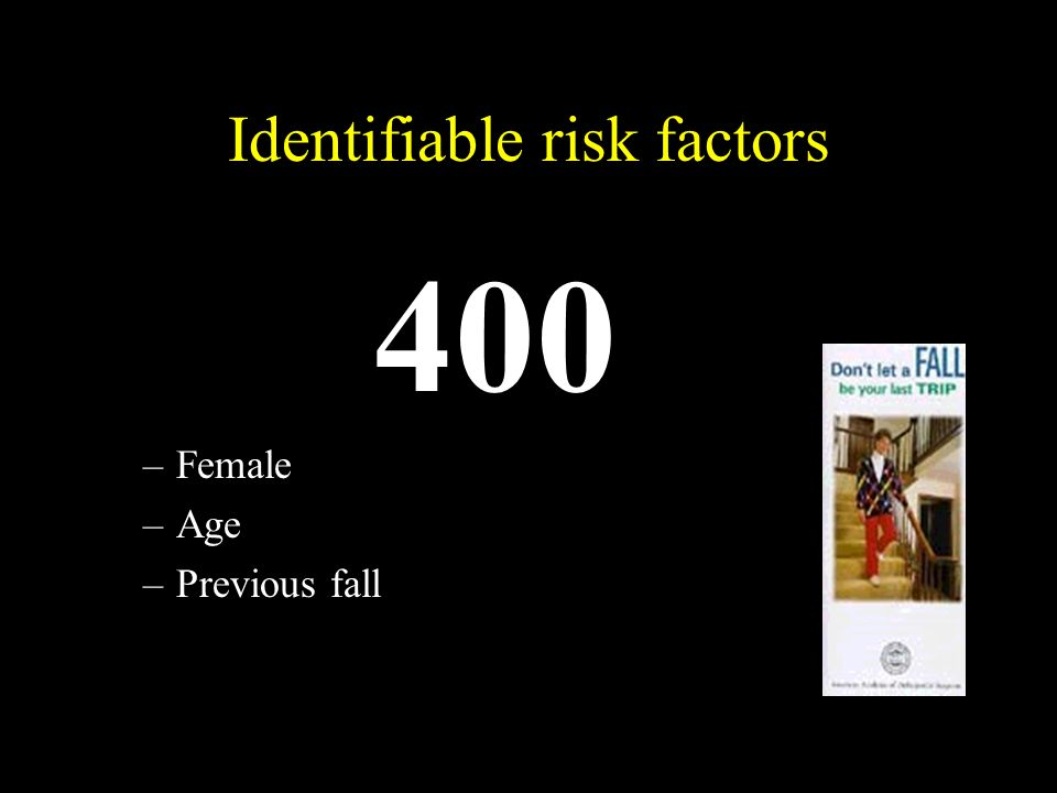 Identifiable risk factors