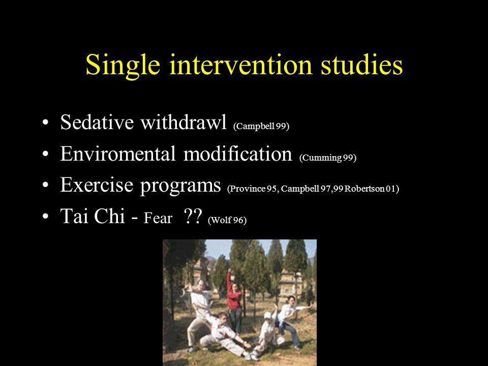 Single intervention studies