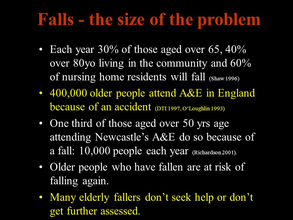 Falls - the size of the problem