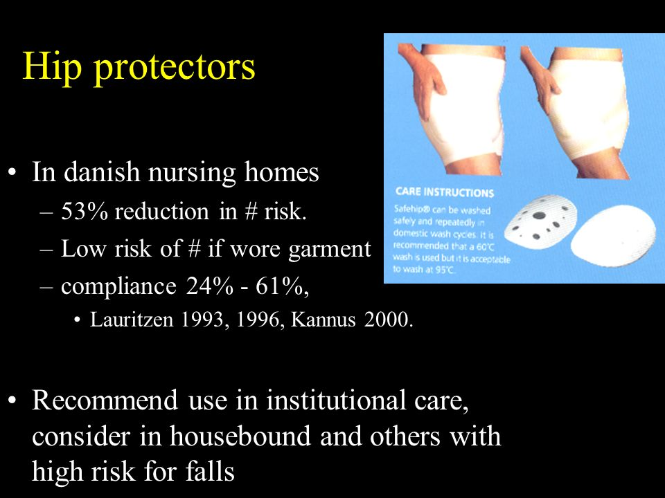 Hip protectors In danish nursing homes