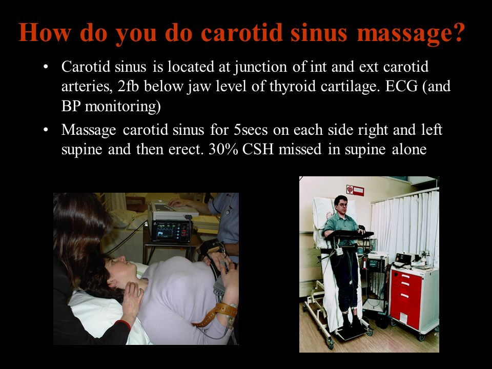How do you do carotid sinus massage