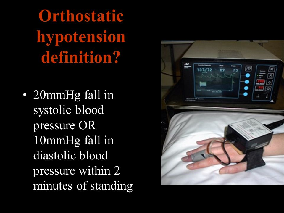Orthostatic hypotension definition