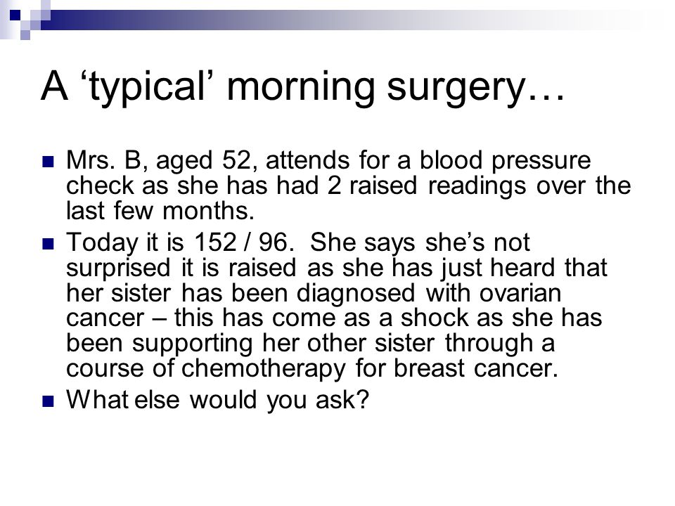 A 'typical' morning surgery…