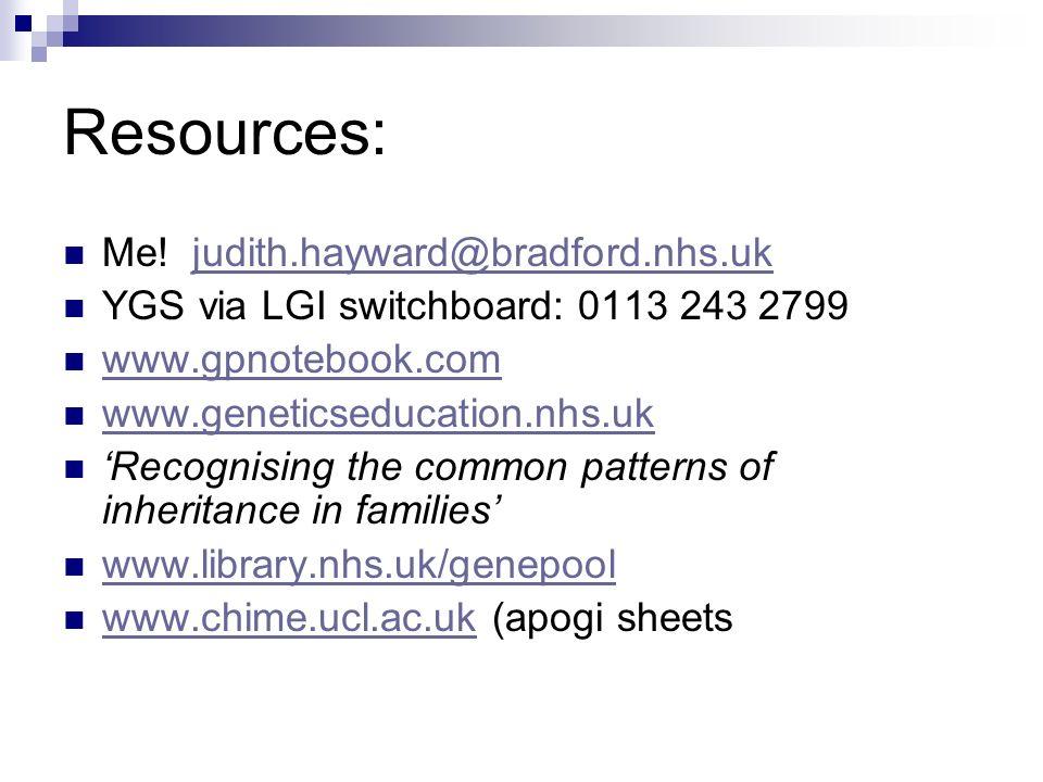 Resources: Me! judith.hayward@bradford.nhs.uk
