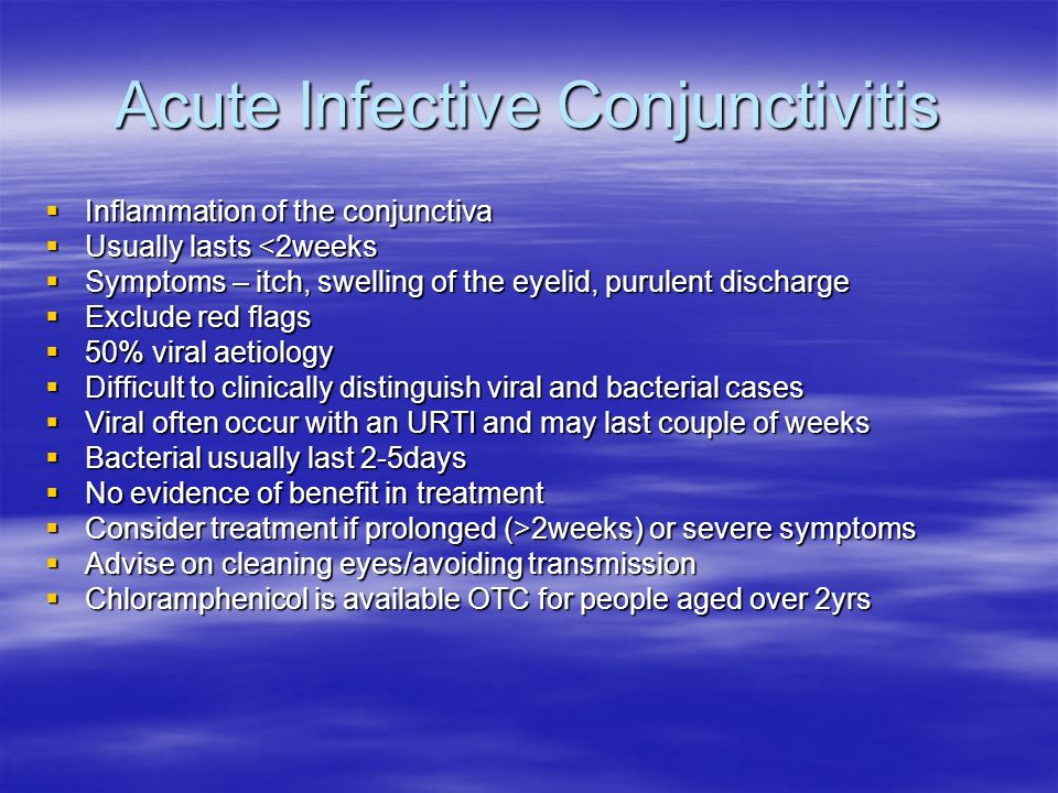 Acute Infective Conjunctivitis