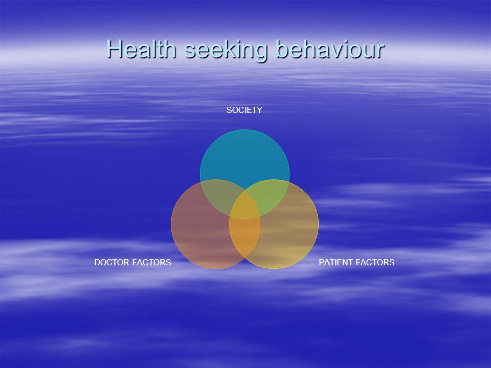 Health seeking behaviour