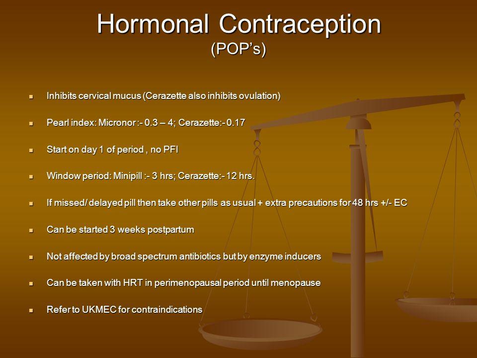 Hormonal Contraception (POP's)