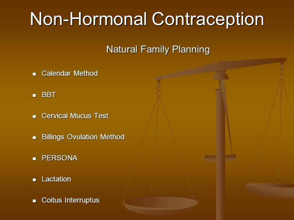 Non-Hormonal Contraception