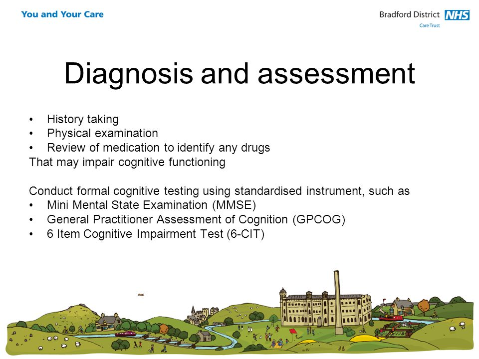 Diagnosis and assessment