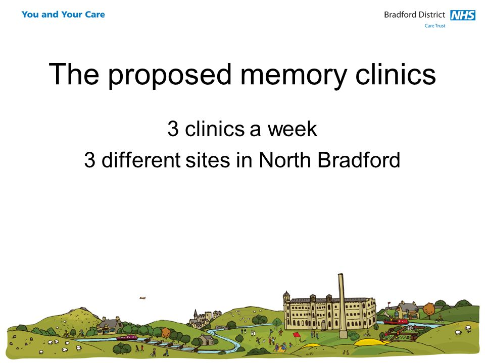 The proposed memory clinics