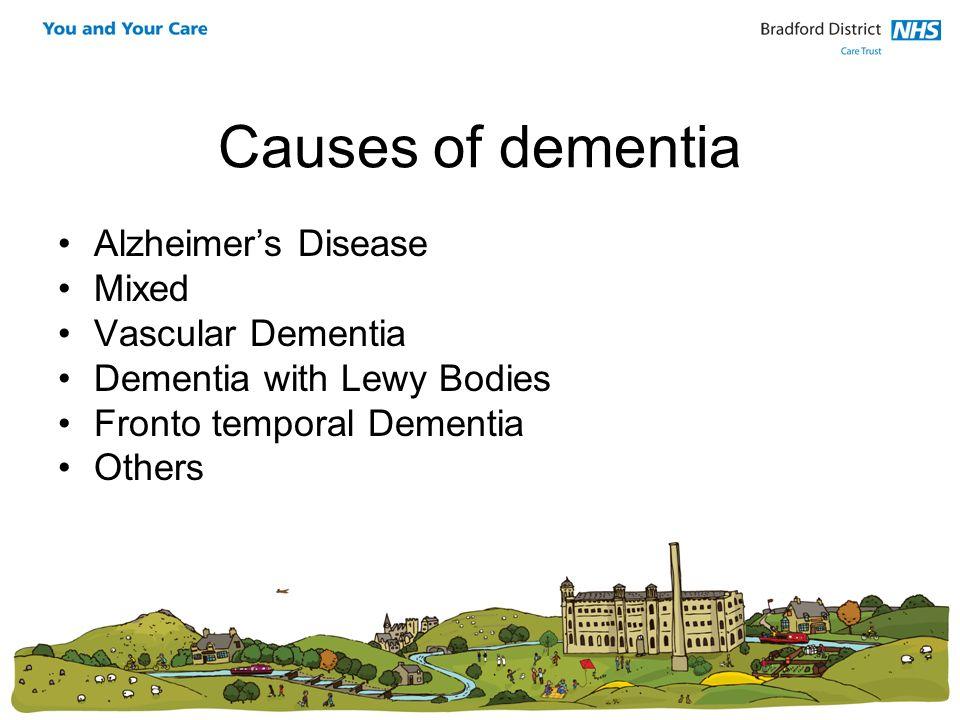 Causes of dementia Alzheimer's Disease Mixed Vascular Dementia