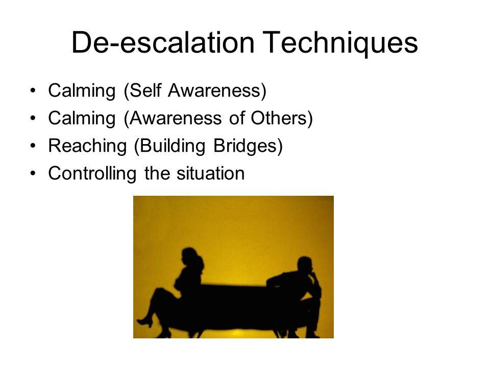 De-escalation Techniques