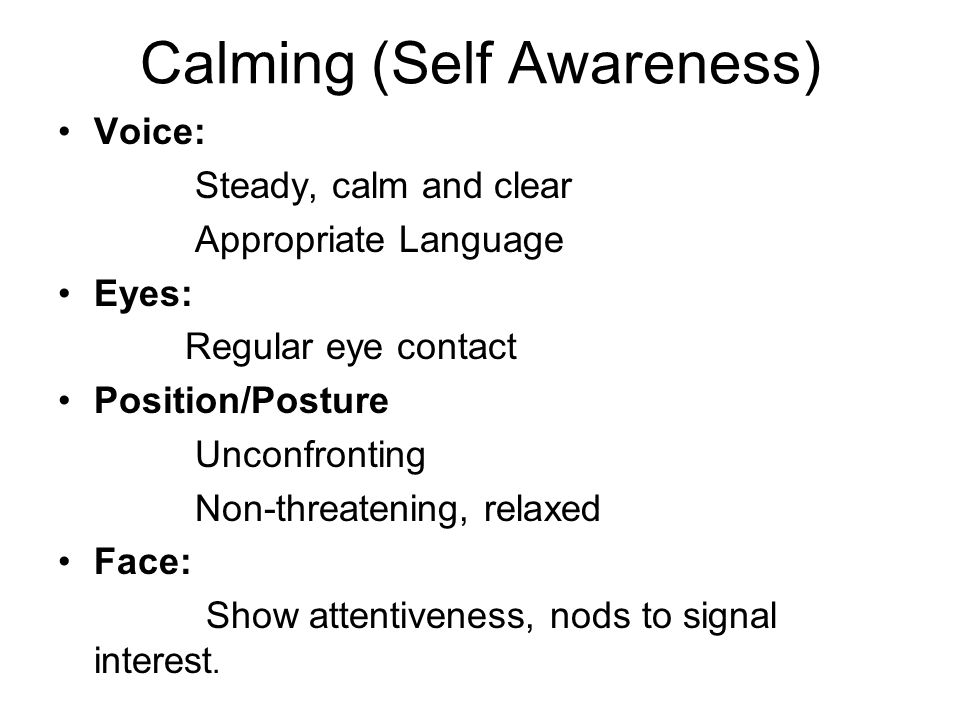 Calming (Self Awareness)