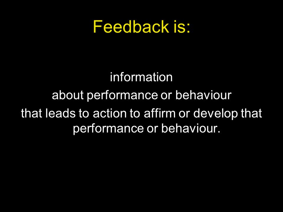 about performance or behaviour
