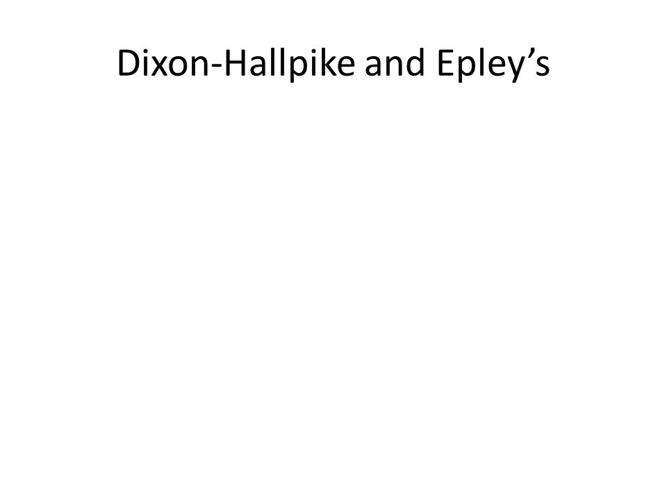 Dixon-Hallpike and Epley's