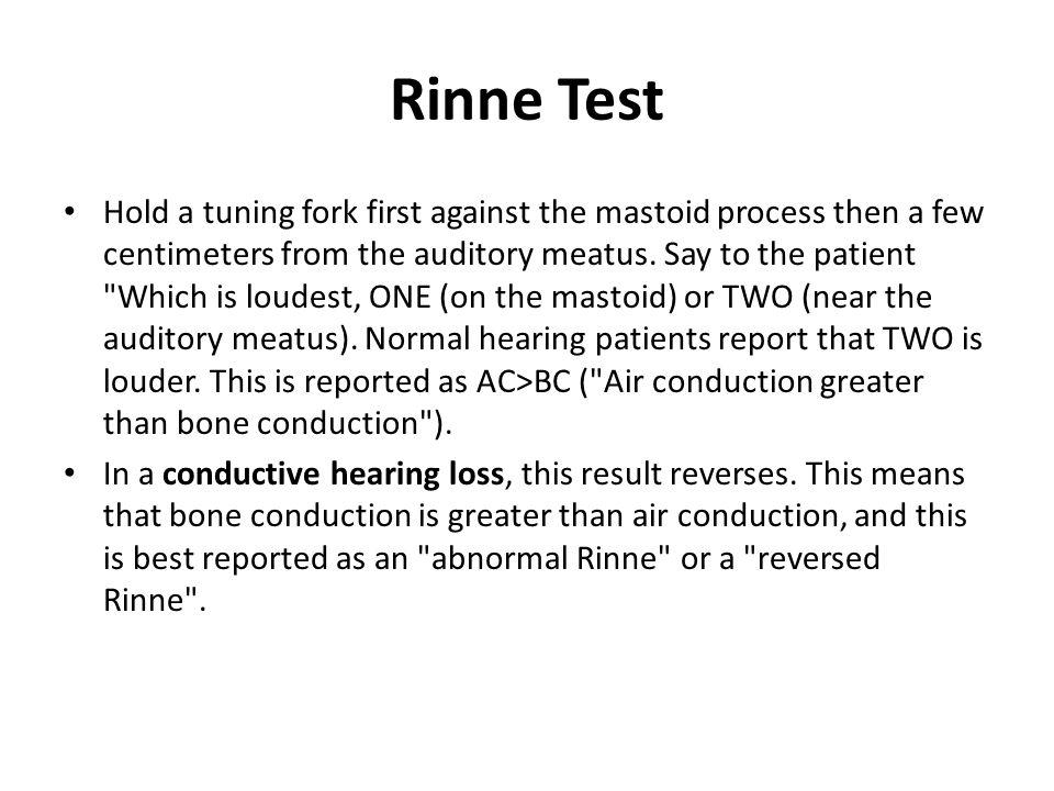 Rinne Test