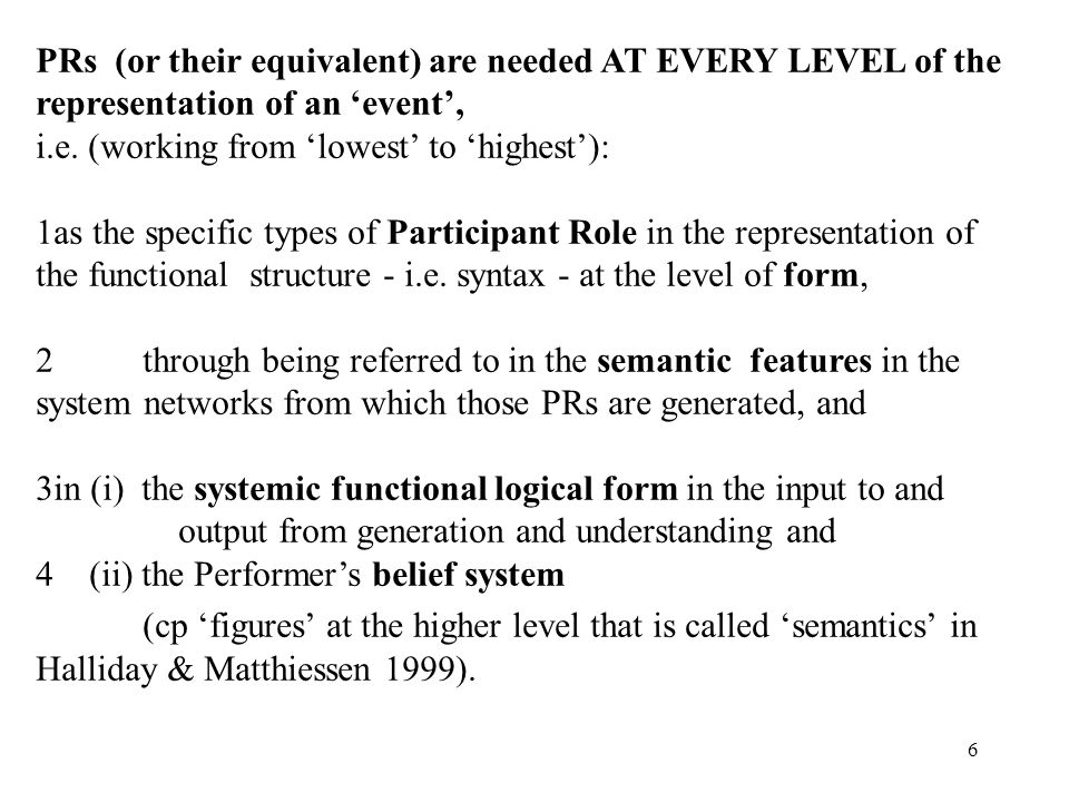 PRs (or their equivalent) are needed AT EVERY LEVEL of the representation of an 'event', i.e. (working from 'lowest' to 'highest'):