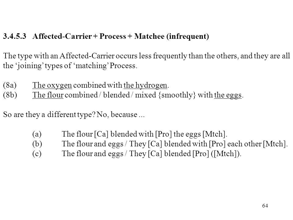3.4.5.3 Affected-Carrier + Process + Matchee (infrequent)