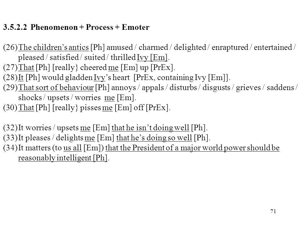 3.5.2.2 Phenomenon + Process + Emoter