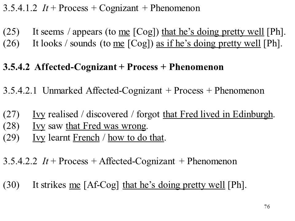 3.5.4.1.2 It + Process + Cognizant + Phenomenon