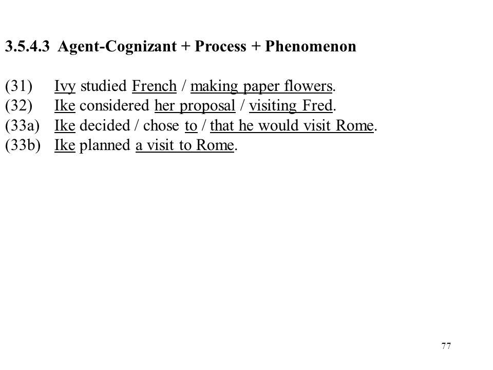 3.5.4.3 Agent-Cognizant + Process + Phenomenon