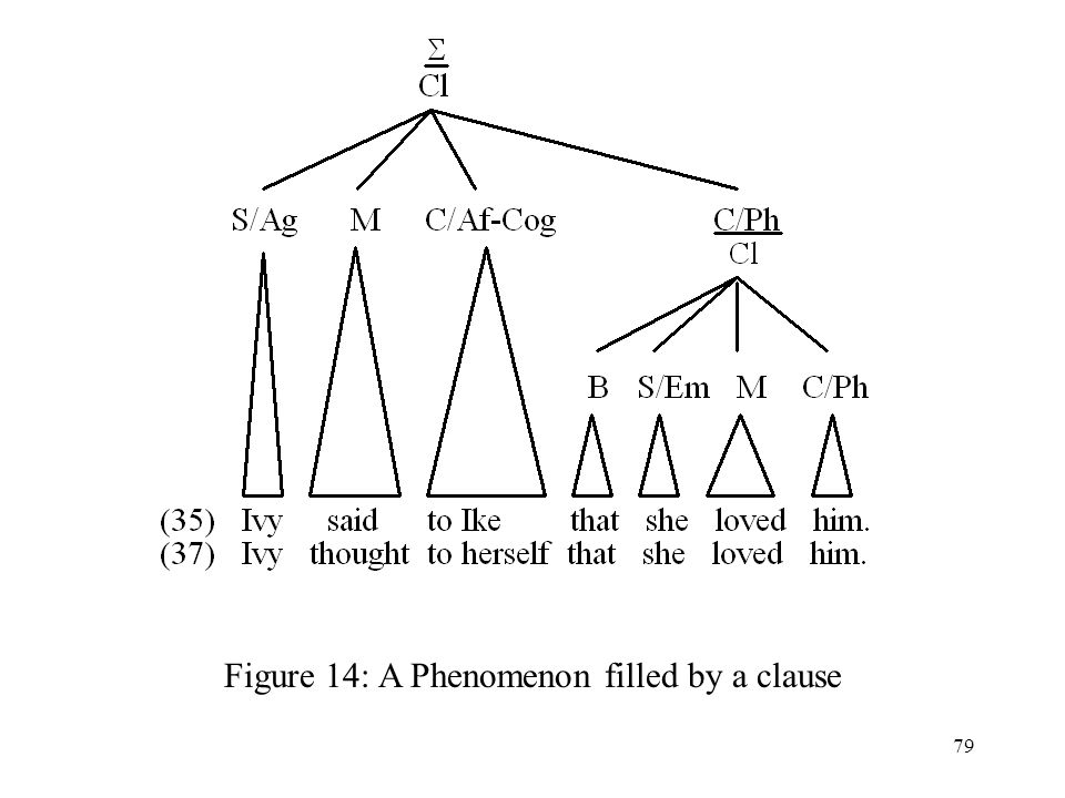 Figure 14: A Phenomenon filled by a clause