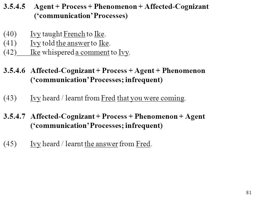 3.5.4.5 Agent + Process + Phenomenon + Affected-Cognizant