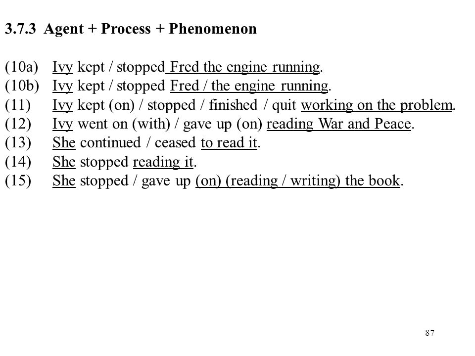 3.7.3 Agent + Process + Phenomenon
