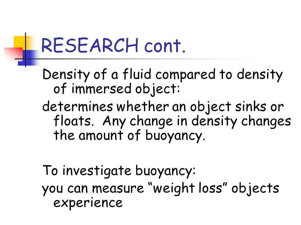 What Determines If An Object Sinks Or Floats Weight Loss