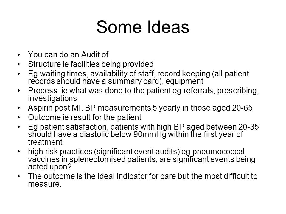 Some Ideas You can do an Audit of