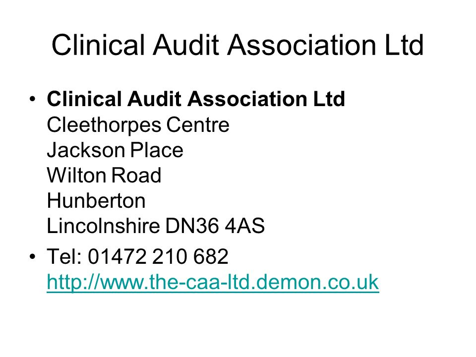 Clinical Audit Association Ltd