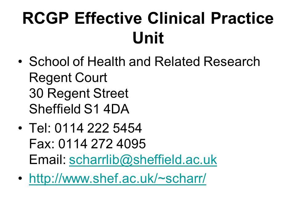 RCGP Effective Clinical Practice Unit