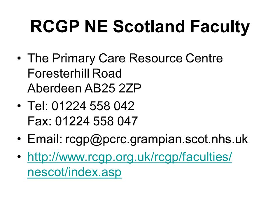 RCGP NE Scotland Faculty
