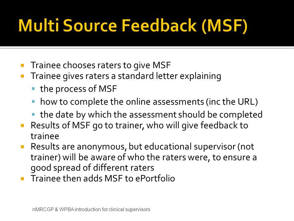 Multi Source Feedback (MSF)