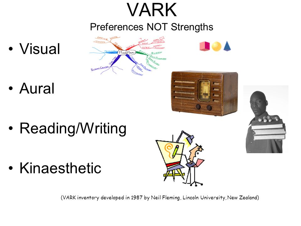 VARK Preferences NOT Strengths